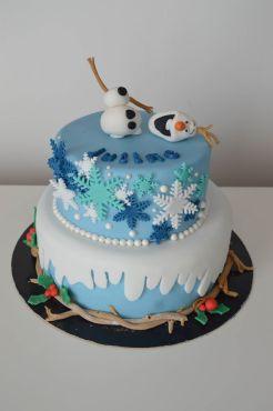 Gâteau anniversaire Reine des Neiges Calais