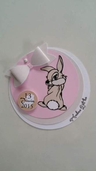 Faire part naissance Bambi Miss Bunny Calais